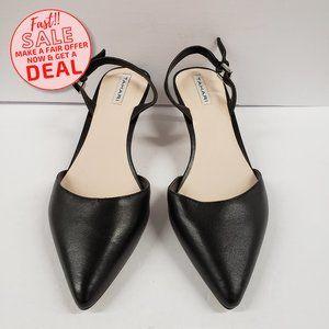 Tahari Black Leather Heeled Pointed Shoe Sz 6.5